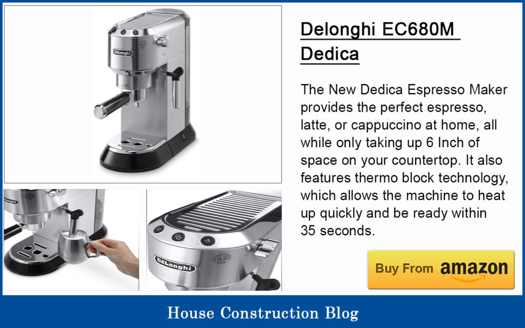 Best automatic espresso machine - Delonghi EC680M Dedica