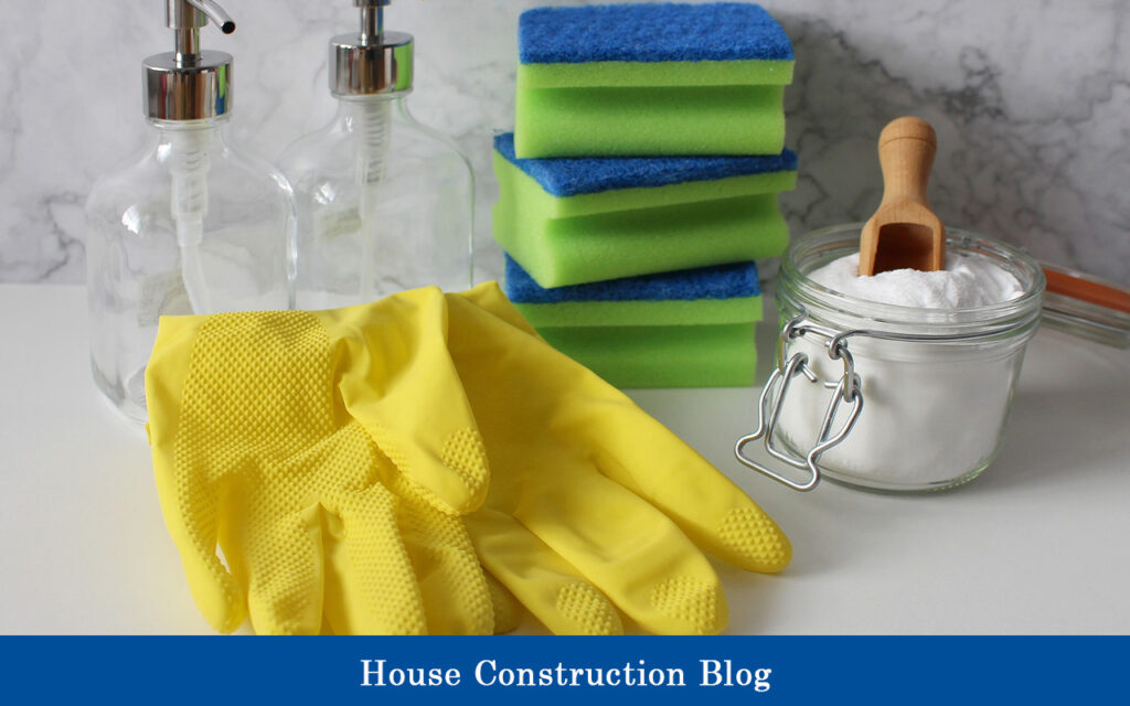 Tools for white brick house clean