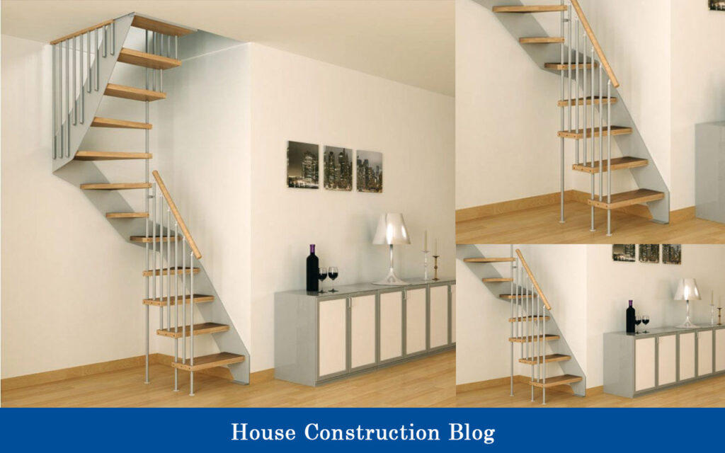 Wood staircase design for small spaces