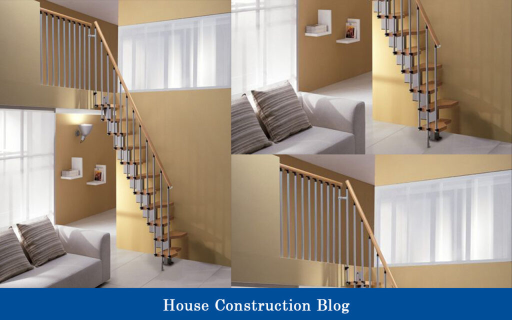 Ladder-type staircase design for small spaces