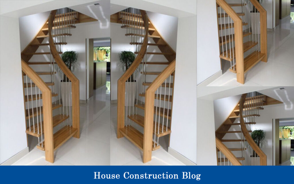 Wood-framed staircase