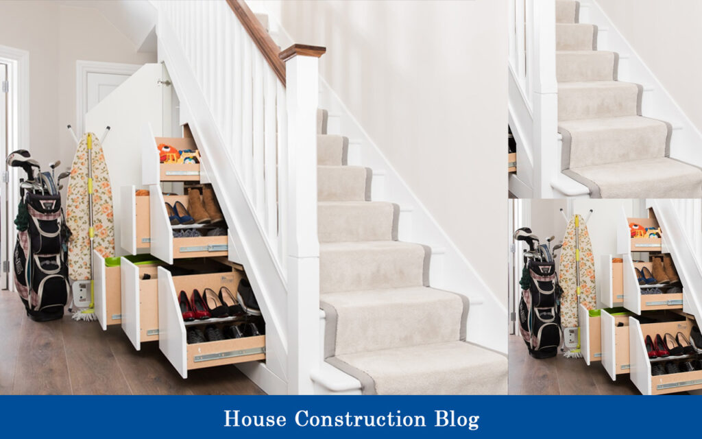 Staircase design for small spaces with storage