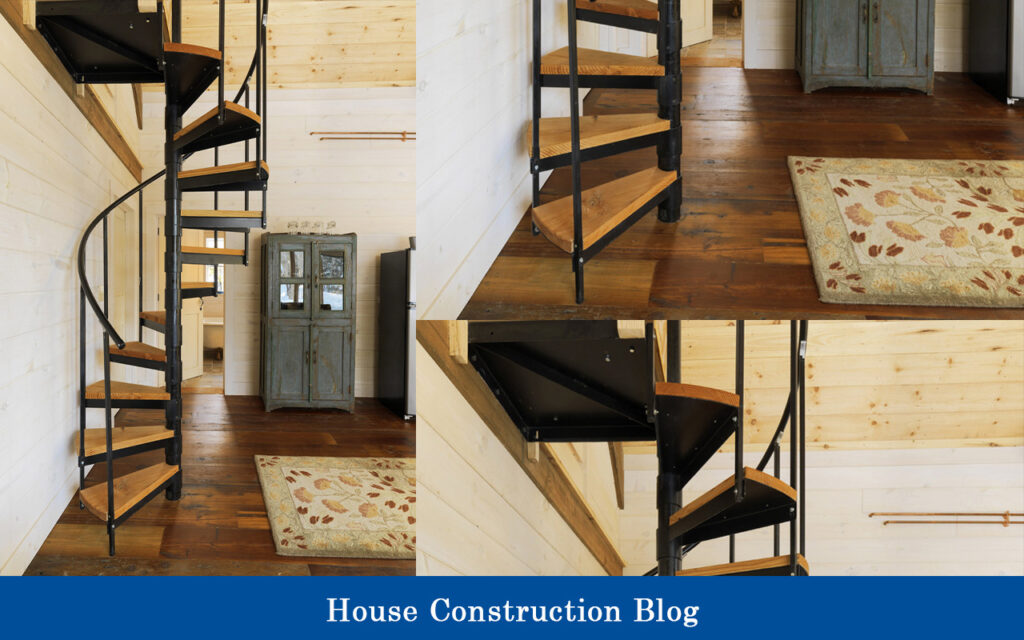 Curved & steel staircase design for small spaces