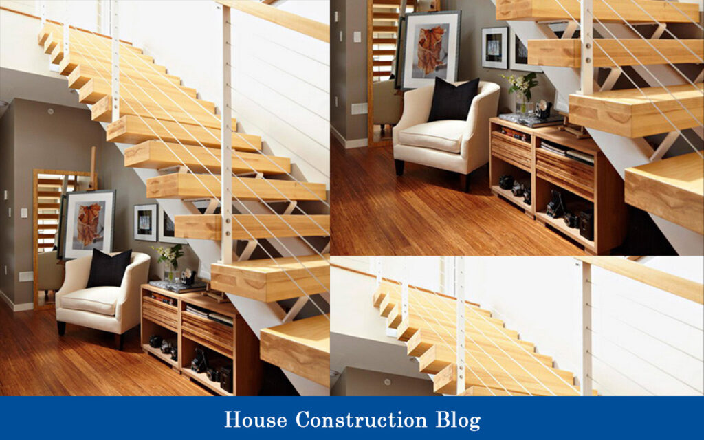 Floor saving staircase design for small spaces