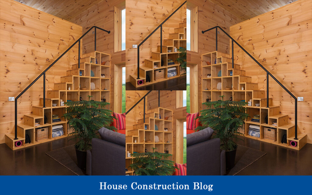 Two in one staircase design for small spaces