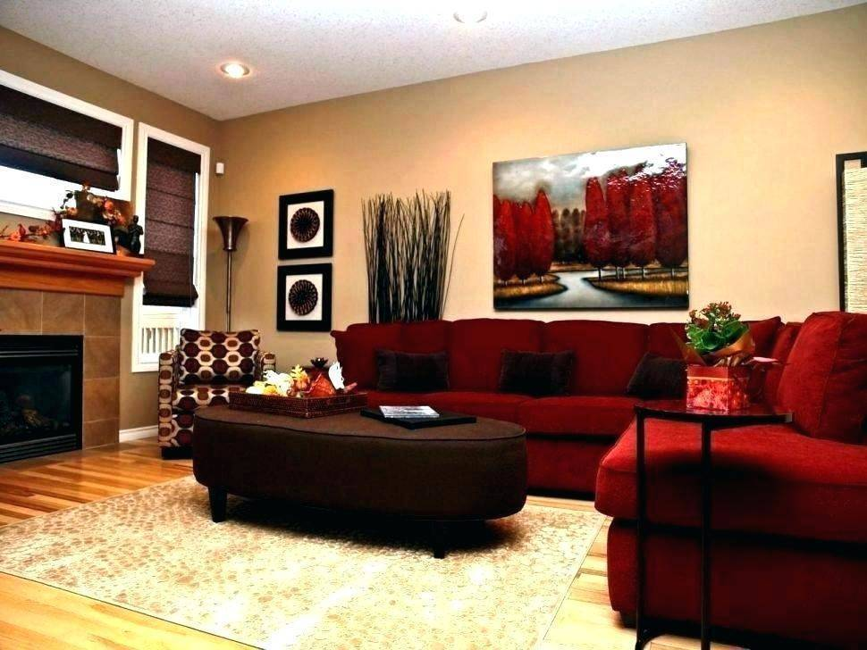 Red living room without red wall