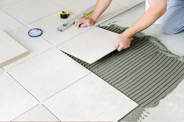 Setting out for tiling